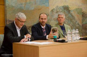 A díjátadó előtti sajtótájékoztató. Balról jobbra Fáth Péter, Gaál Péter és Csorba Gábor. Bajomi Bálint www.bajomibalint.hu