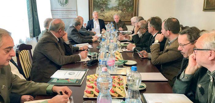 Az OMVV elnökségének ülése. Fotó: OMVV   Földvári Attila)