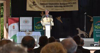 dr. Semjén Zsolt beszéde közben az Országos Vadásznapon – Fotó: Kókai Márton